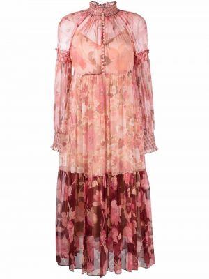 Розовое платье из полиэстера Zimmermann