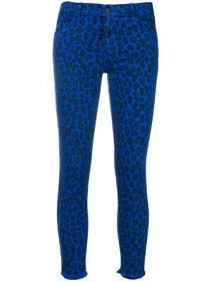 Джинсы синие леопардовые J Brand