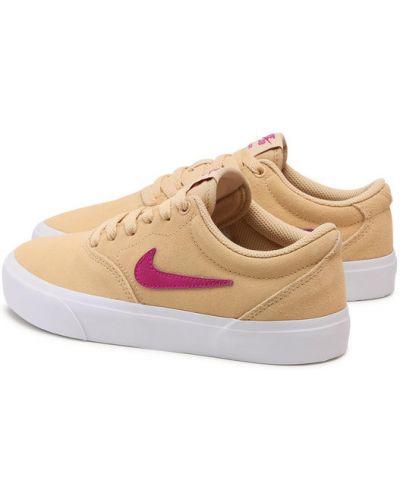 Żółte tenisówki zamszowe Nike