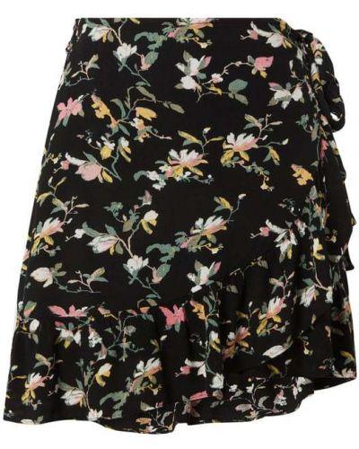 Czarna spódnica z falbanami rozkloszowana Vero Moda