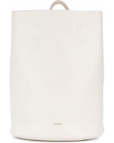Белая кожаный сумка Jil Sander