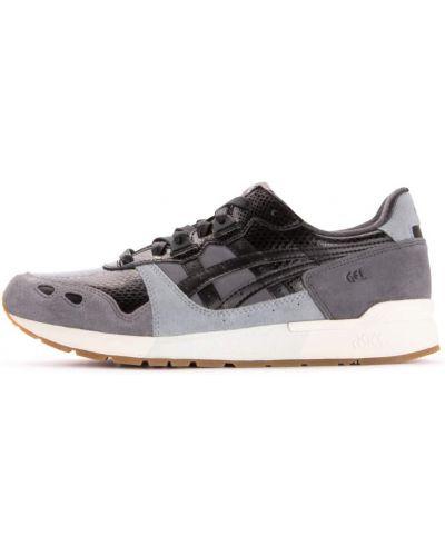 Кожаные кроссовки для бега - серые Asics