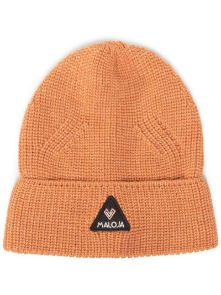 Pomarańczowa czapka Maloja