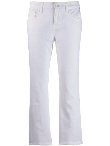 Укороченные джинсы расклешенные белые Current/elliott