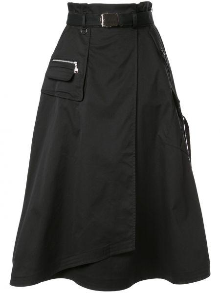 Czarna spódnica cargo rozkloszowana z wysokim stanem Loveless