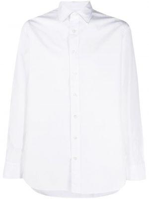 Biała klasyczna koszula bawełniana z długimi rękawami Lardini