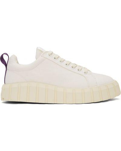 Białe sneakersy na platformie skorzane Eytys