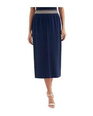 Синяя юбка карандаш с рукавом 3/4 Luisa Spagnoli