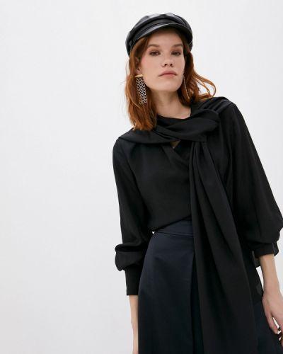 С рукавами черная блузка Joseph