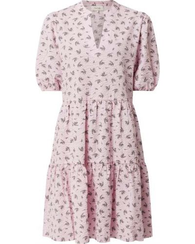 Różowa sukienka mini rozkloszowana bawełniana Levete Room