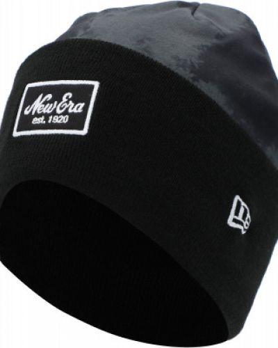 Флисовая шапка - черная New Era
