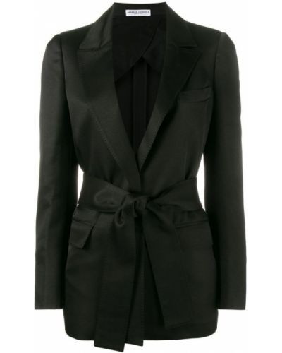 Однобортный черный удлиненный пиджак Barbara Casasola