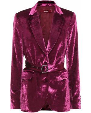 Костюмный малиновый классический пиджак с подстежкой Sies Marjan