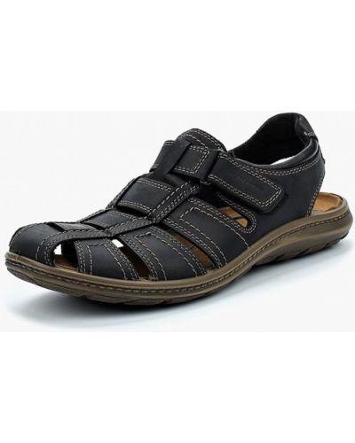 Черные сандалии из нубука Salamander