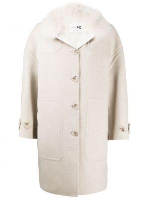 Кашемировое длинное пальто оверсайз на пуговицах Manzoni 24