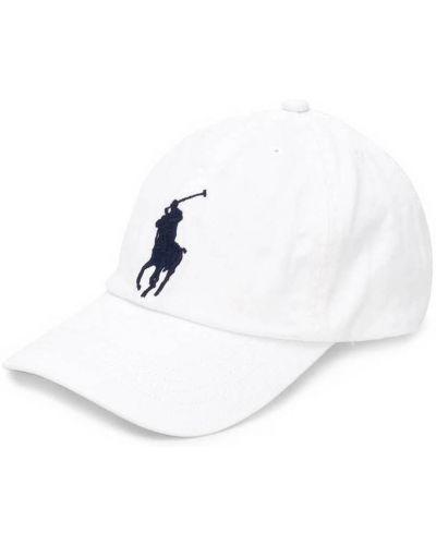 Biały kapelusz z printem Ralph Lauren