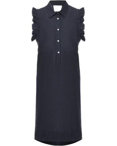 Платье мини с отложным воротником с вырезом Pietro Brunelli