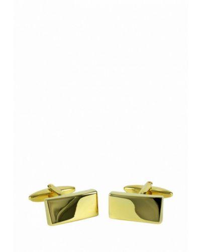 Запонки из золота золотого цвета Lindenmann