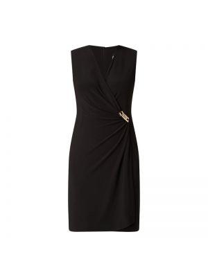 Złota czarna sukienka koktajlowa kopertowa Paradi