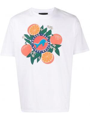 Хлопковая оранжевая футболка свободного кроя с круглым вырезом Botter