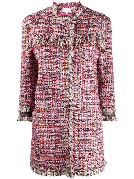 Длинное пальто розовое с карманами Patrizia Pepe