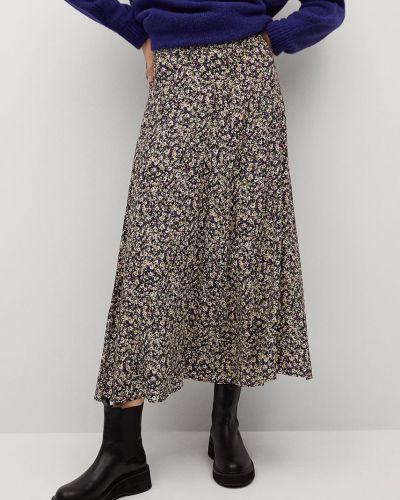 Fioletowa spódnica z wiskozy Mango