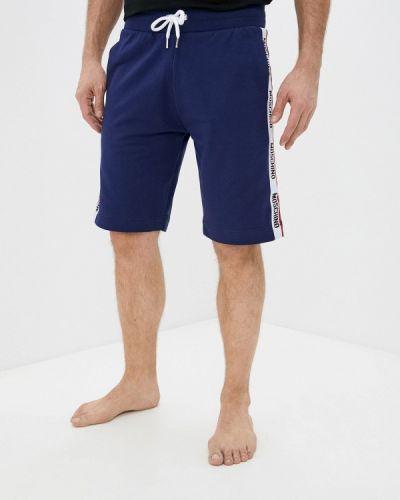Повседневные синие спортивные шорты Moschino Underwear