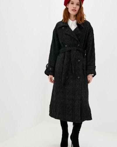 Черное пальто двубортное Sister Jane