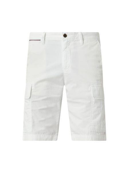 Białe szorty cargo bawełniane Tommy Hilfiger
