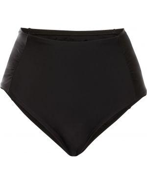 Плавки с завышенной талией черные бикини Bonprix