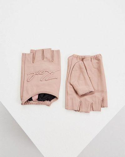 Розовые митенки Karl Lagerfeld
