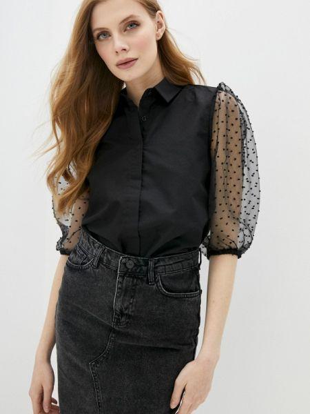 Блузка с коротким рукавом черная весенний Defacto