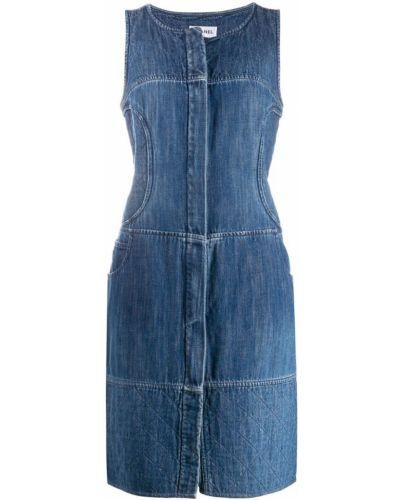 Джинсовый сарафан винтажный синий Chanel Pre-owned