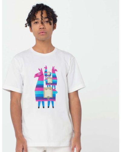 Хлопковая футболка - белая Uniqlo