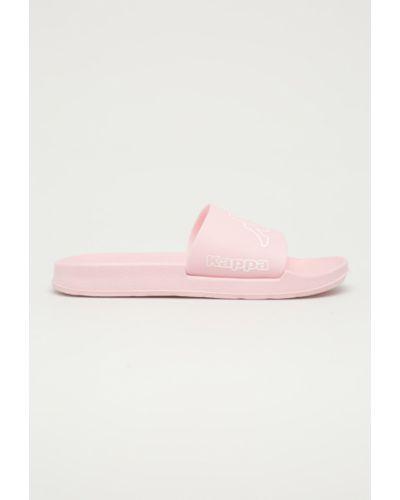 Różowe sandały na obcasie Kappa