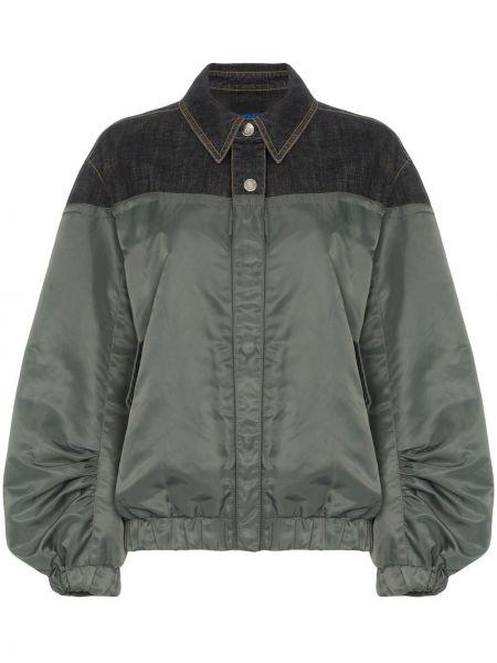 Джинсовая куртка с манжетами Sjyp