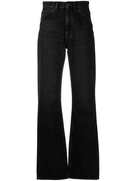 Czarne jeansy z wysokim stanem bawełniane Acne Studios