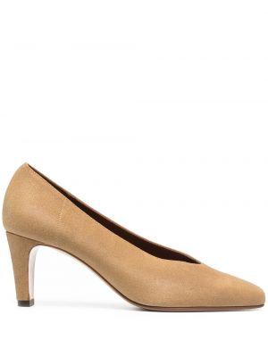 Кожаные туфли на каблуке квадратные Michel Vivien
