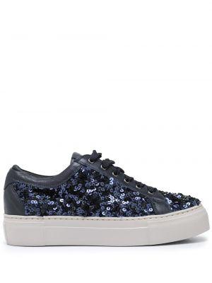 Niebieskie sneakersy skorzane Agl