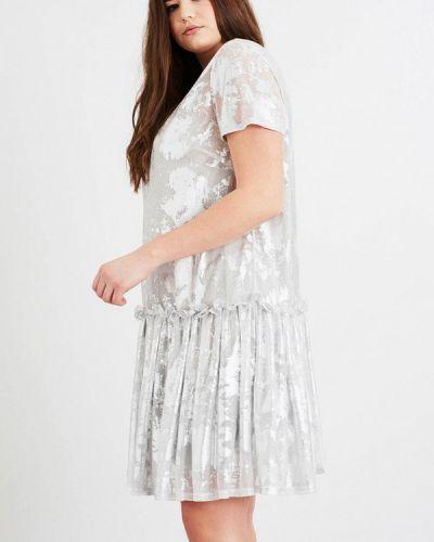 Платье осеннее серебряный Lost Ink Plus