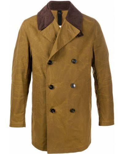 Brązowy bawełna prochowiec z długimi rękawami z kieszeniami Mackintosh