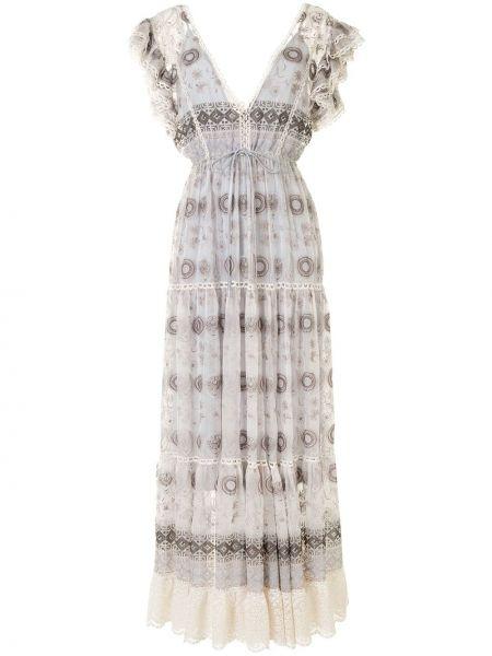 Платье серое со вставками Alexis