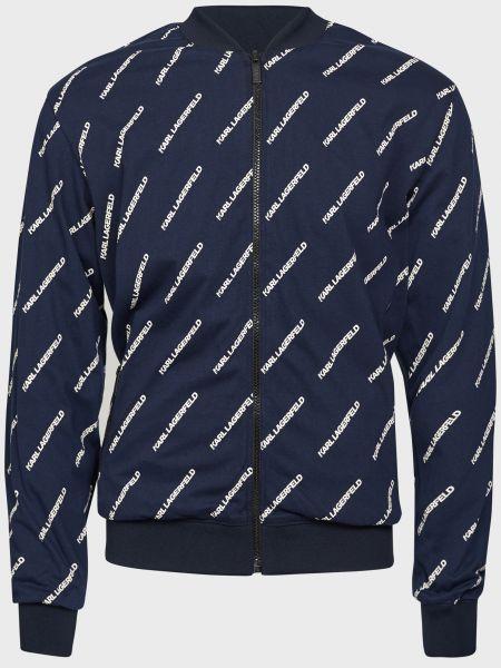Синяя ветровка на молнии с подкладкой Karl Lagerfeld
