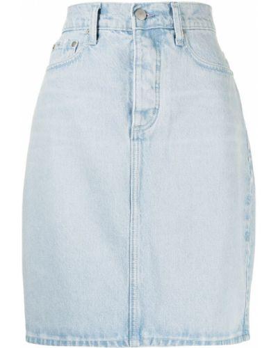 Spódnica jeansowa z paskiem - niebieska Nobody Denim