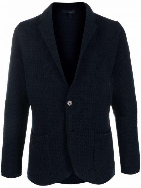 Niebieski z kaszmiru sweter Lardini