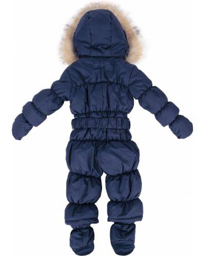 Зимний комбинезон с капюшоном синий Lucky Child