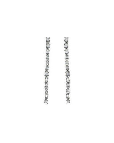 Серебряные серьги удлиненные с фианитом Sandara
