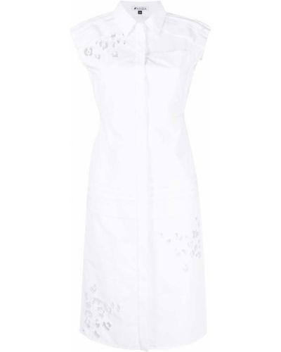 Прямое белое платье миди без рукавов Krizia