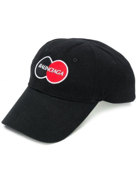 Czapka z logo czarny Balenciaga