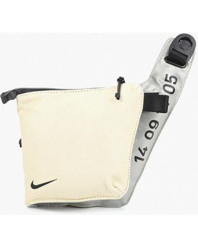 Бежевая сумка хлопковая Nike
